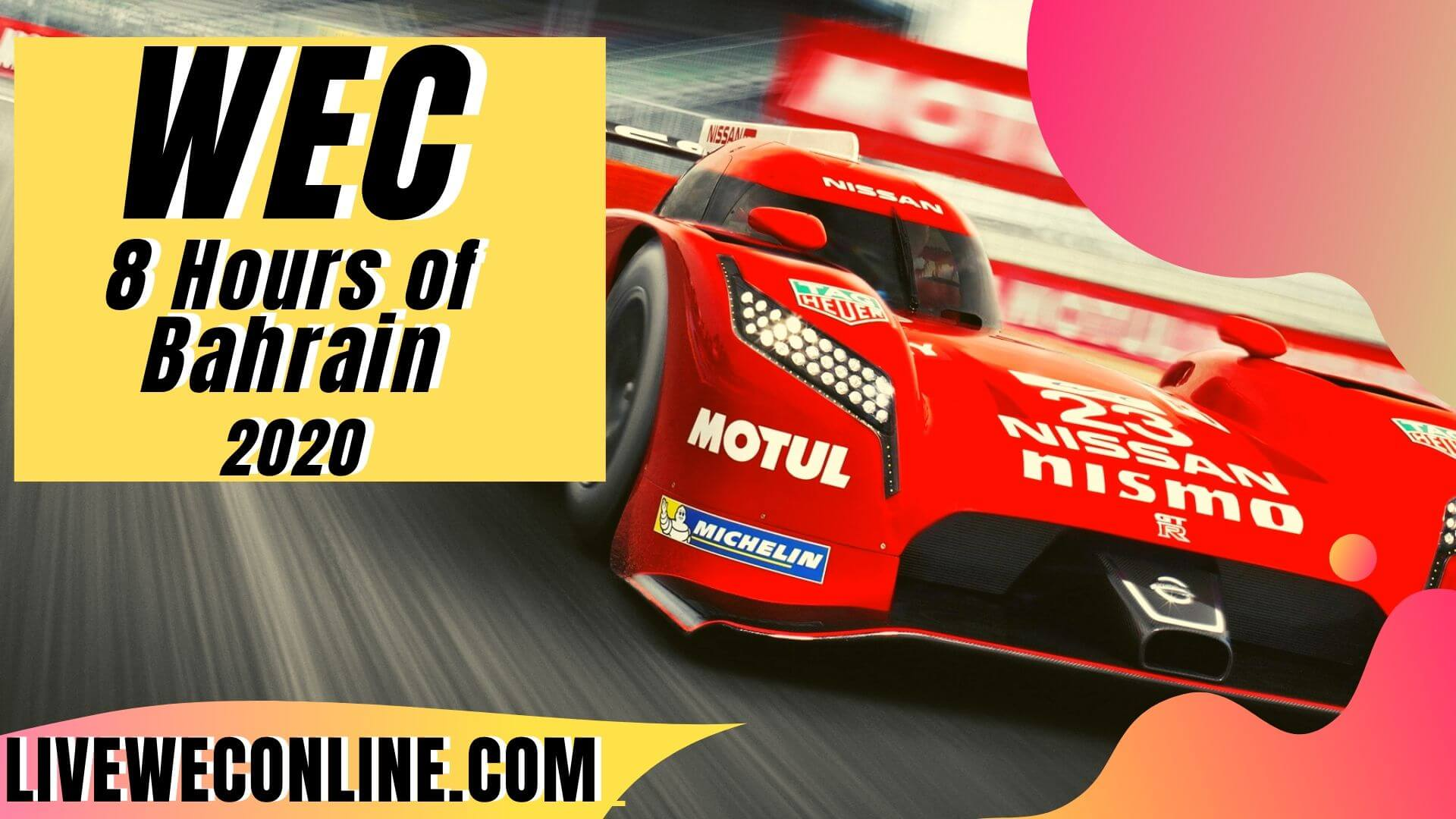 8 Hours of Bahrain Live Stream 2020 | WEC